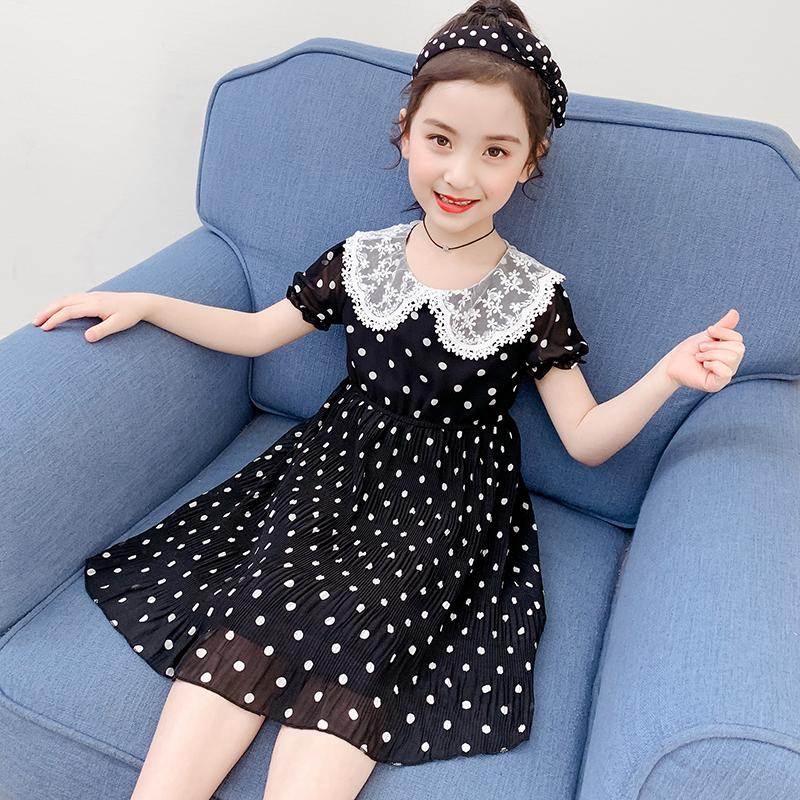 女童连衣裙夏季2020新款小女孩时尚洋气夏装儿童中长款公主裙子仙