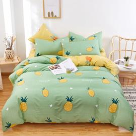 紫兰玉四件套全棉纯棉床上用品网红款床单被套床笠学生宿舍三件套