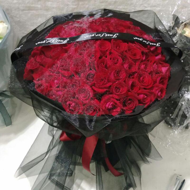 青岛鲜花同城速递99朵红玫瑰李沧市南市北济南威海潍坊烟台送花