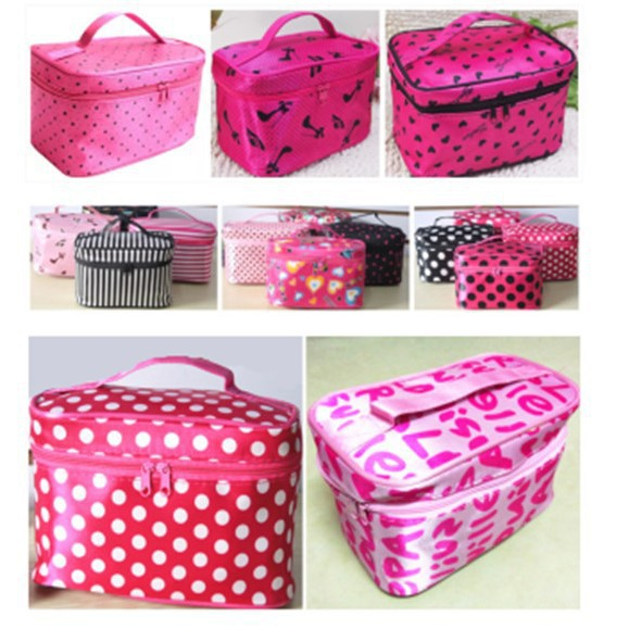 Korean new portable square cosmetic bag large capacity jewelry storage womens Bag Travel Folding wash bag