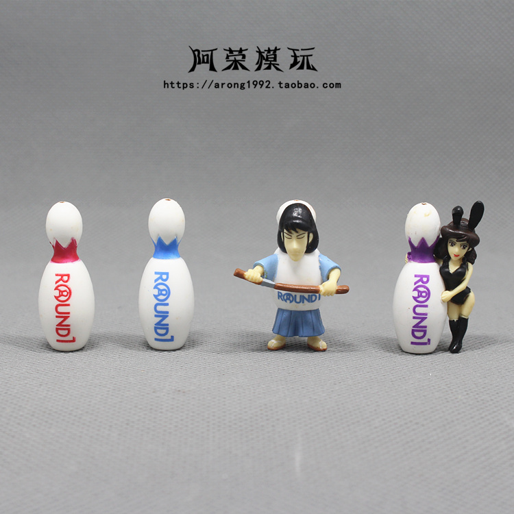 正版散货 鲁邦三世 剑士右卫门 峰不二子兔女郎迷你小摆件模型