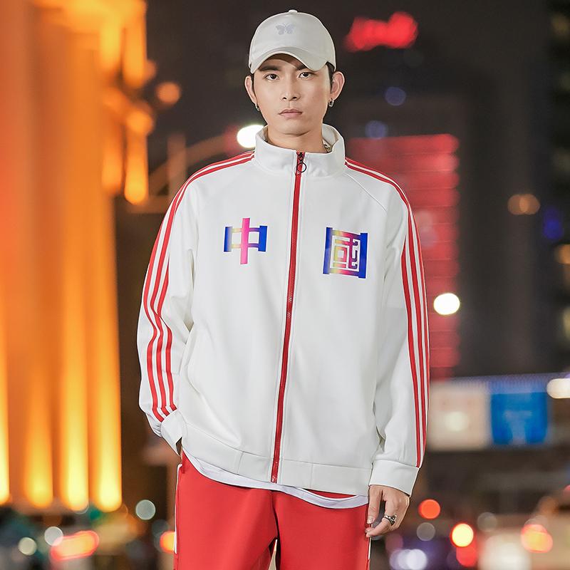 情侣装中国卫衣秋季宽松学生外套男新款韩版班服套装 WT03-P65