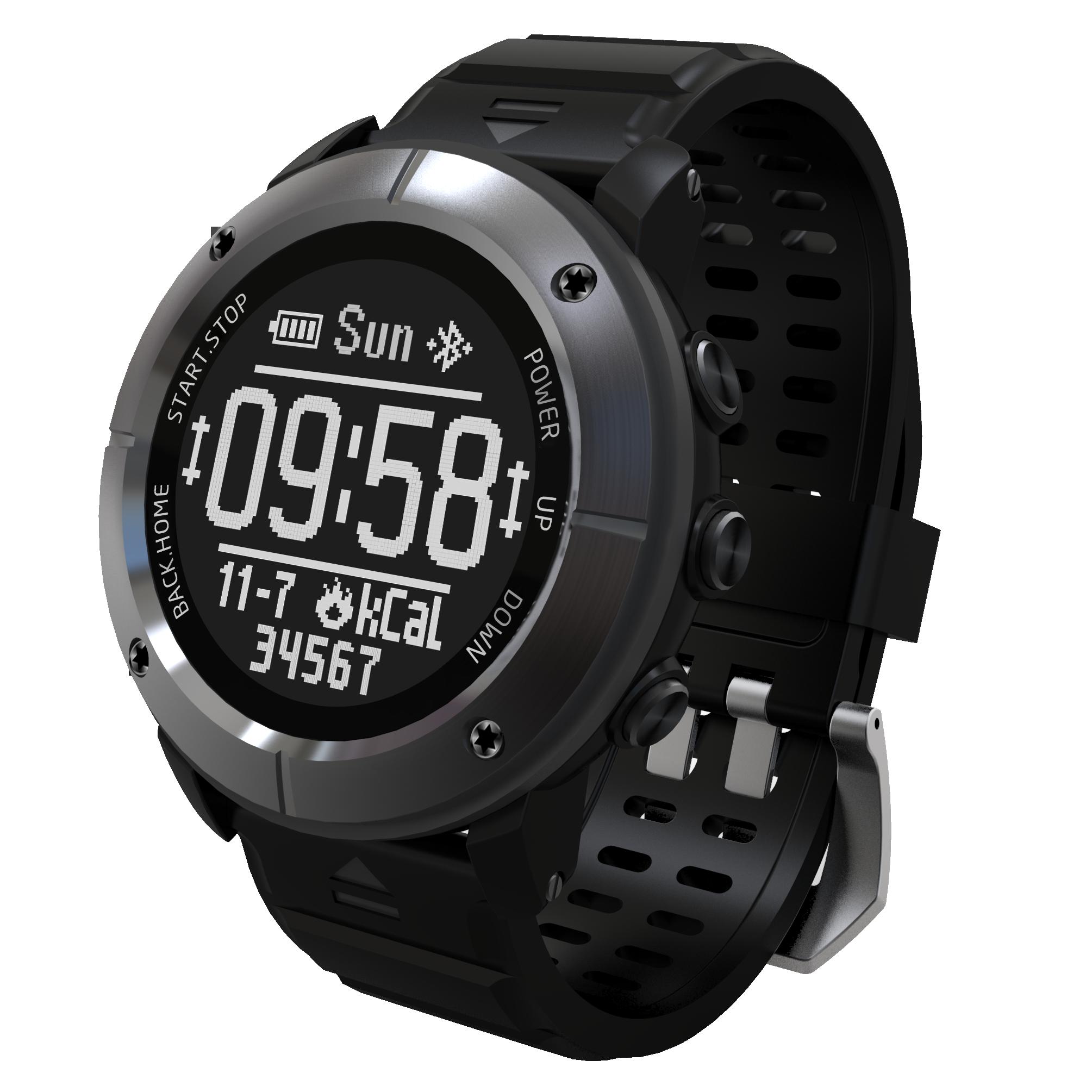 Uwear户外运动多功能北斗GPS心率计步指南针气压海拔温度游泳手表