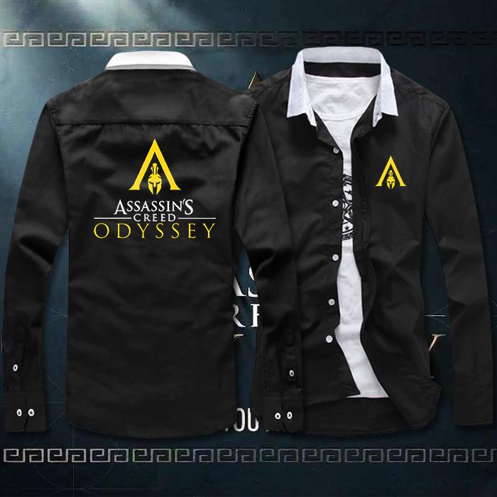 Assassins Creed Odyssey origin revolution heroes around spring and autumn shirt long sleeve t-shirt mens shirt