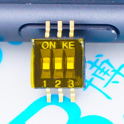 1.27 贴片 3位 原装进口 DSHP03TSGER 台湾KE 1.27mm 3路拨码开关