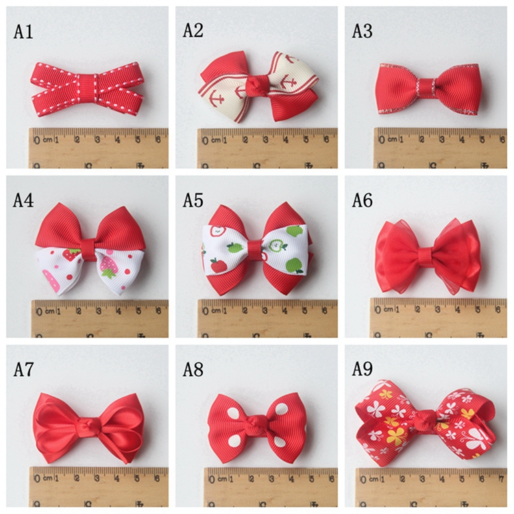 Yingzi handmade genuine star baby accessories headdress hair accessories little butterfly hairpin red 235-s