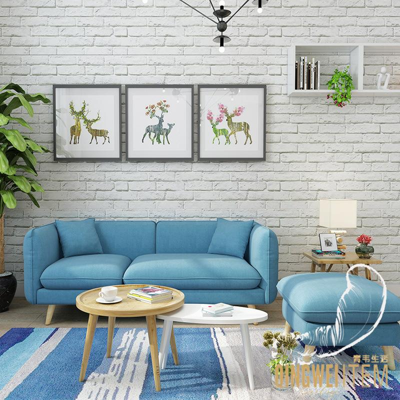 北欧风格客厅公寓出租房屋布艺小沙发简约现代小户型沙发住宅家具