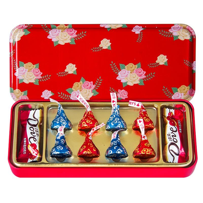 德芙巧克力礼盒装情人节送女神元旦新年生日表白礼物