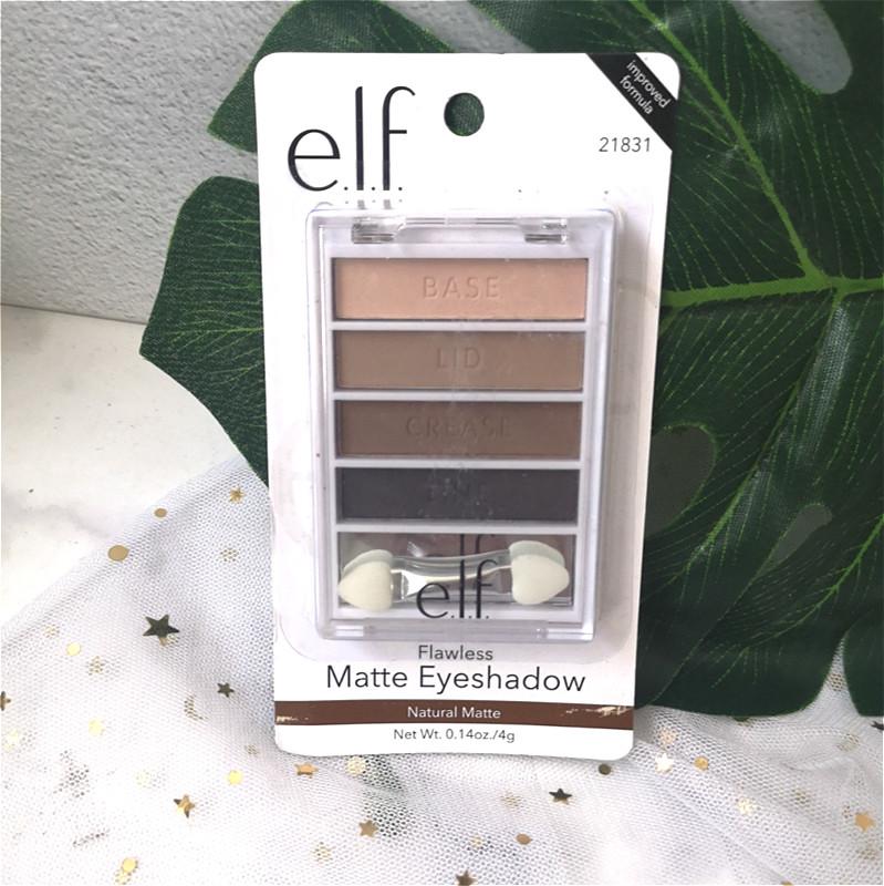 E.L.Felf眼影盘四色基础系列大地带镜带刷珠光哑光初学者Flawless