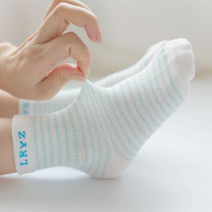 儿童袜子纯棉夏季宝宝婴儿袜棉袜童袜男童女童中筒袜透气网眼袜子