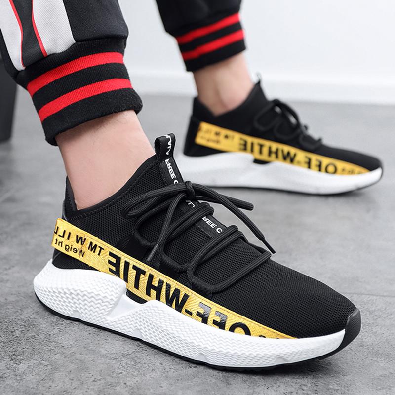 2018 новая весна летающие модели ткачество обувной молодежь тенденция смешанные цвета случайный обувь уютный простой обувь мешковина мужская обувь