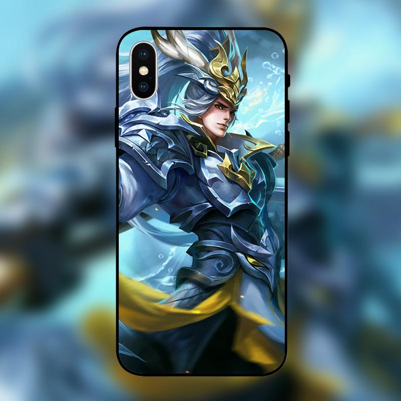 王者荣耀韩信白龙吟iPhoneXSMAX卡通手机壳8plus苹果XR玻璃硅胶套