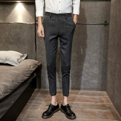夏季休闲九分裤男西裤78%聚酯纤维18%粘纤4%氨纶K132-P70控价98