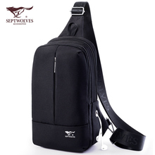 Seven Wolf Brassieres Men's Slant Bag Men's Bag Recreational Single Shoulder Bag Men's Chaozhou Canvas Multifunctional Backpack New Style
