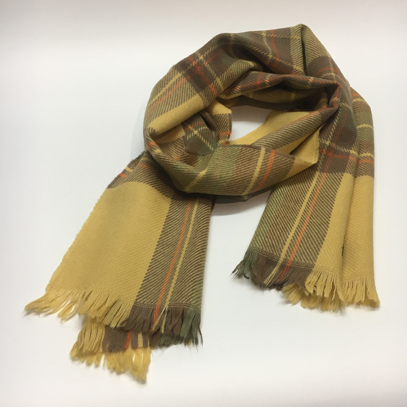 Ulzzang ancient works Vintage national style literature scarf spring and autumn women and men versatile lightweight cotton hemp Japanese and Korean version