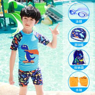 儿童泳衣男童小中大童分体卡通游泳衣宝宝婴幼儿小孩防晒泳裤套装