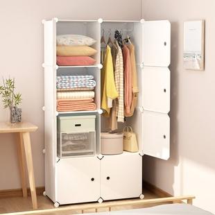 简易衣柜宿舍折叠出租房用单人家用卧室布小衣橱简约现代收纳柜子品牌