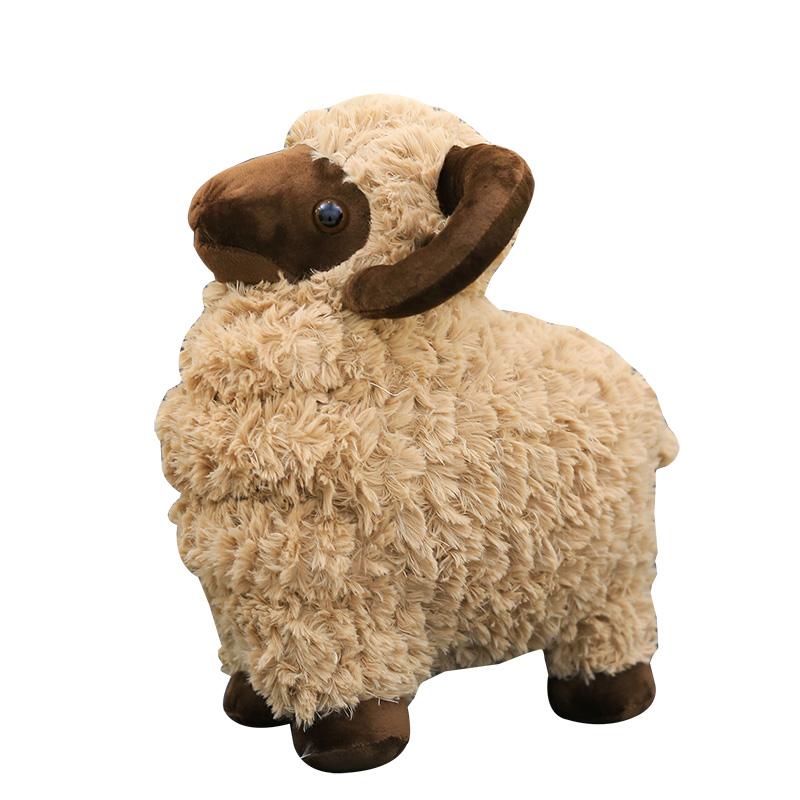 草泥羊公仔小綿羊山羊小羊駝毛絨玩具布娃娃玩偶抱枕生日 女友