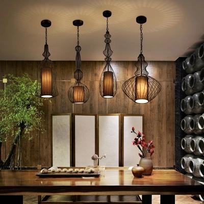 创意个性北欧铁艺鸟笼吊灯客厅餐厅卧室咖啡厅现代复古新中式吊灯