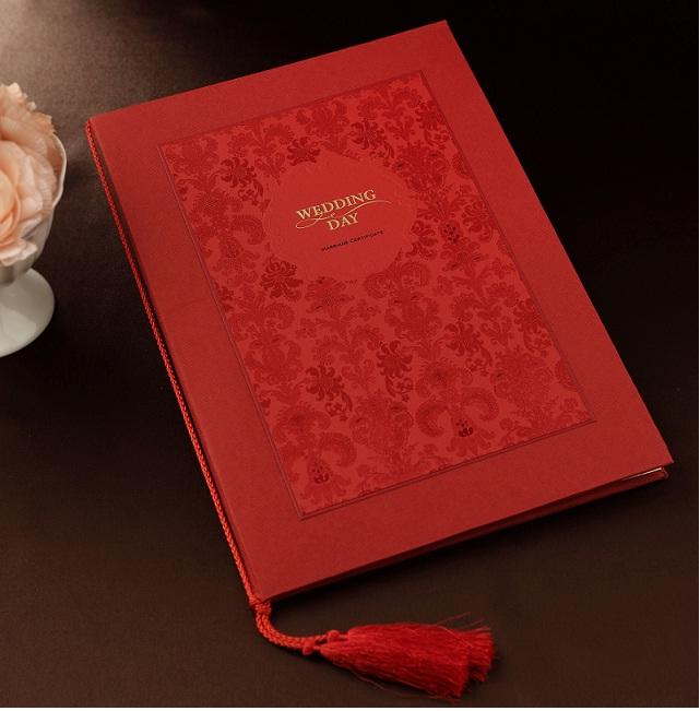 婚庆用品纪念结婚用品婚礼道具爱情宣言誓言册宣誓本保证书签到本