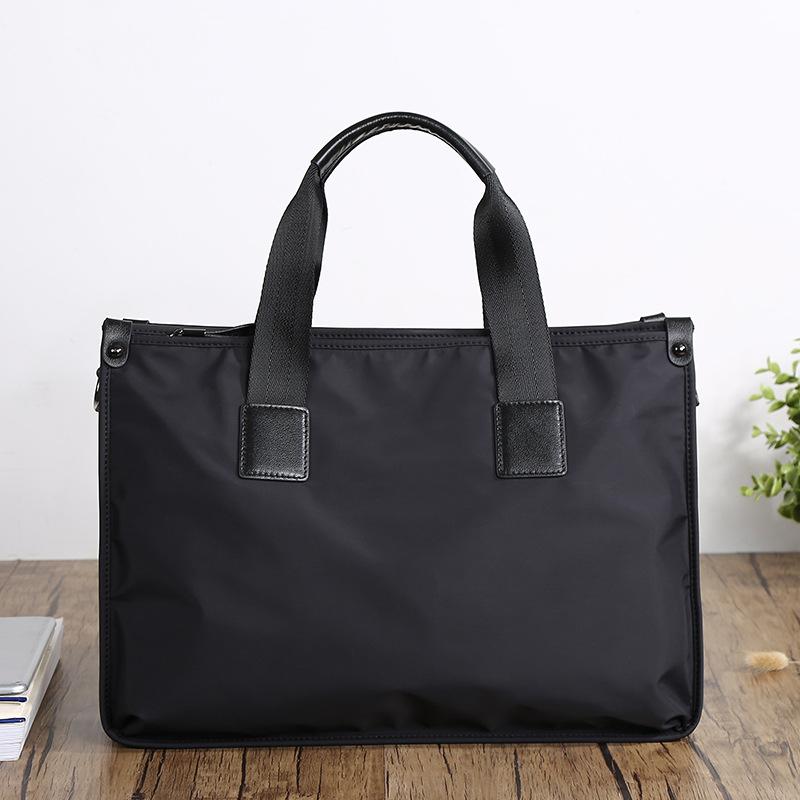 New style paibaojue handbag mens Oxford cloth business bag horizontal briefcase nylon canvas mens bag shoulder bag