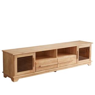 全實木電視櫃現代簡約小户型櫃子輕奢客廳傢俱地櫃新中式電視櫃
