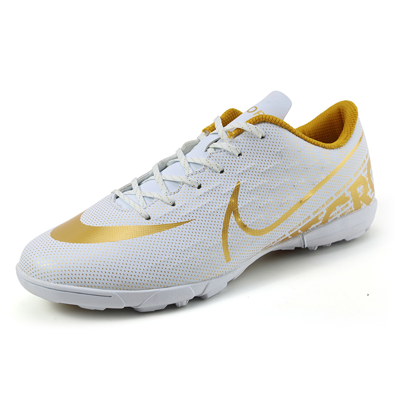 C-luo assassin football shoes junior middle school students nail broken leather foot training shoes mens adult lawn shoes