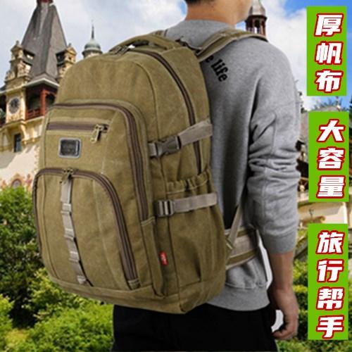 Mens backpack backpack leisure travel oversized travel bag Outdoor Travel Bag Canvas sports outdoor Backpack