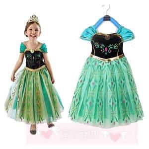 kids girls dresses frozen elsa dress costume princess dress
