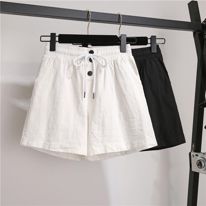 黑色休闲女棉麻新款宽松显瘦直筒裤满69.00元可用44元优惠券
