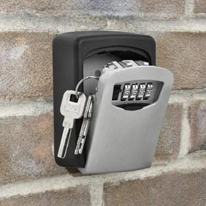 铝合金钥匙箱密码组装简约模型锁匙收纳盒悬挂实用简易悬挂式便携