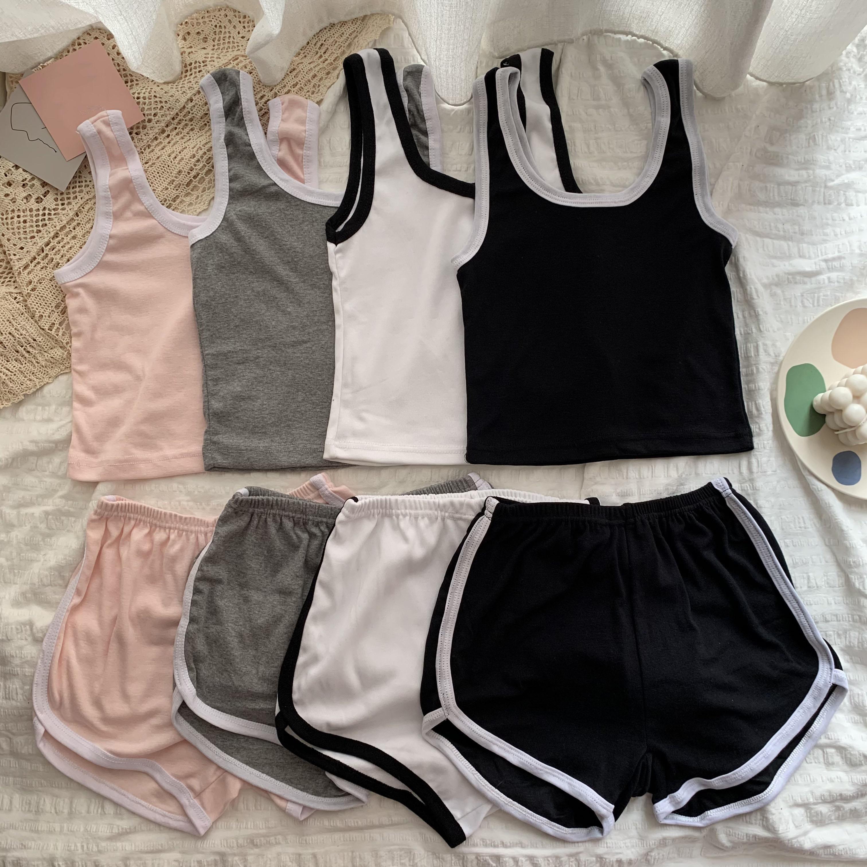 睡衣套装夏季韩版运动背心宽松外穿