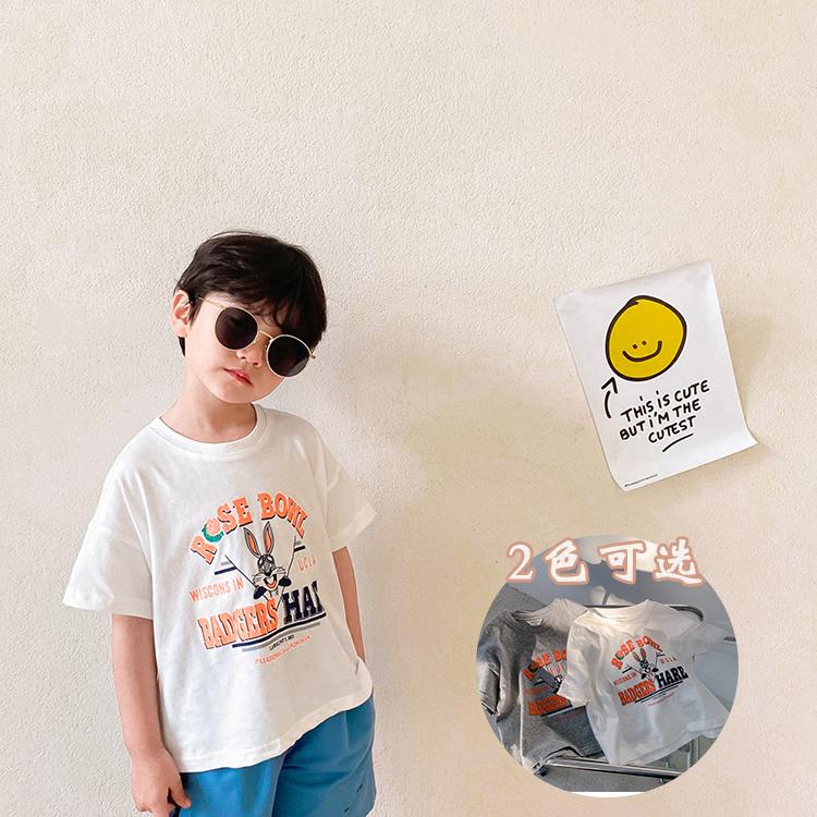 短袖男童夏装2021新款纯棉上衣t恤