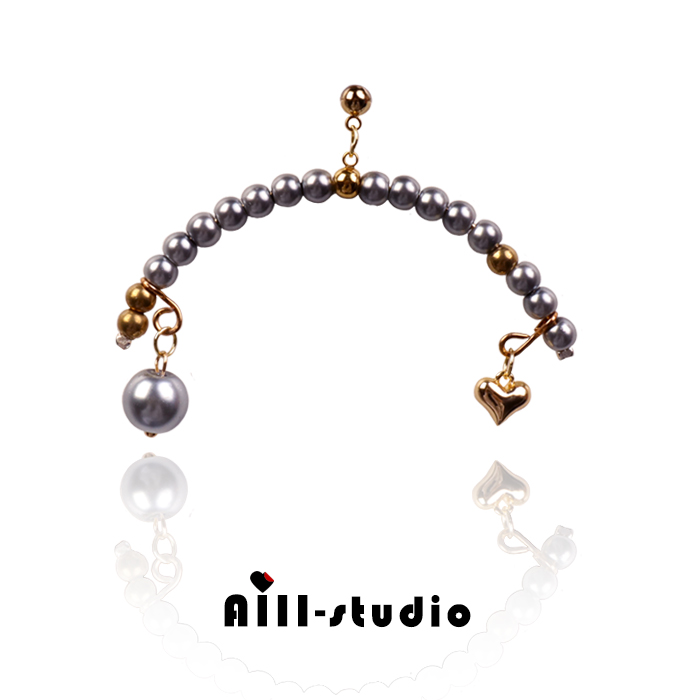 Jewelry Cupids arrow long and short asymmetric pearl chain stage show earrings and Earrings