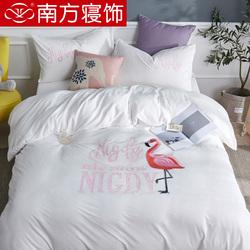 南方寝饰加厚珊瑚绒四件套双面绒冬季保暖水晶绒法莱绒被套床单