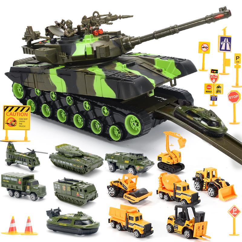 超大号坦克玩具车儿童音乐耐摔惯性车军事模型男童男孩合金小汽车
