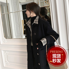 MMCO_Simple Art ~Temperament Commuting Double-sided Wool Suit Long Wool Overcoat Female
