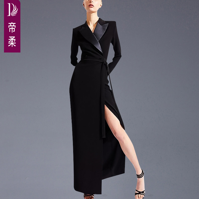 Dijou new style suit collar Long Sleeve Dress