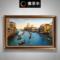 手绘油画美式风景客厅壁画欧式挂画现代装饰画大气威尼斯世界名画