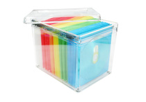 HIPCE Creative CD box transparent DVD box large capacity disc storage rack 120 disc storage box with Inside page