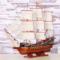 地中海帆船模型大木船一帆风顺装饰品摆件客厅手工木质帆船礼物