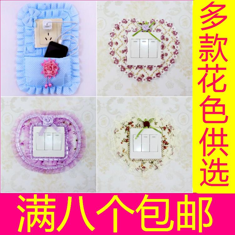 布艺韩国创意装饰套双开关贴