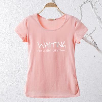 大码纯莱卡棉短袖T恤女加肥加大韩版体恤宽松大码圆领半袖女上衣
