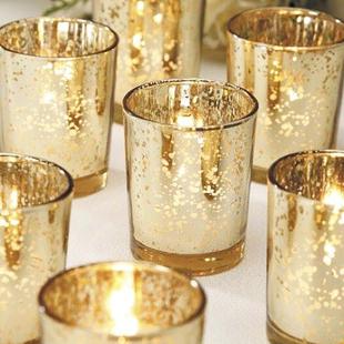 浪漫烛光晚餐玻璃烛台蜡烛空杯星光杯