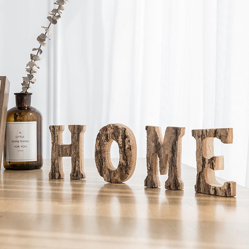 券后15.80元树皮木质love字母摆件 家居酒柜装饰品卧室客厅摆设创意新婚礼物