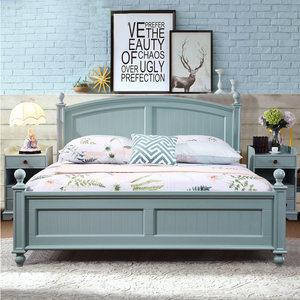 美式床乡村全实木床1.8米双人床田园风格家具1.5米1.2儿童单人床