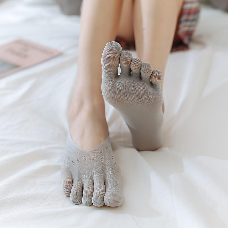 タオバオ仕入れ代行-ibuy99|五指袜|袜子女五指袜女夏季船袜天鹅绒硅胶防滑分趾袜不掉跟隐形超薄丝袜