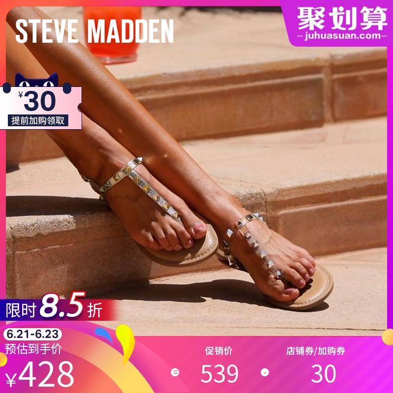 Steve Madden/思美登2021夏季新款T字型夹脚铆钉凉鞋女 GENERATE