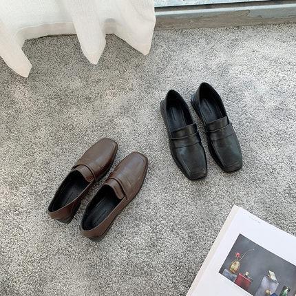 春季皮鞋女一脚蹬图片