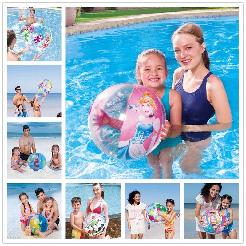 [卡通沙滩球] детские [充气球水] верх [充气玩具戏水球游泳球手球早教海滩球]